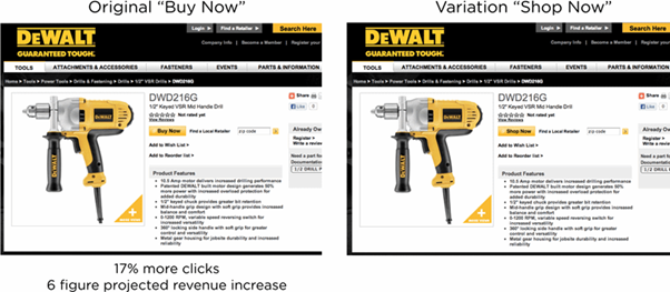 Black & Decker increase conversions by 17% WITH A/B Testing